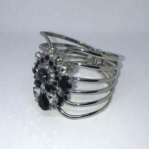Swarovski Crystal Clamp Bracelet